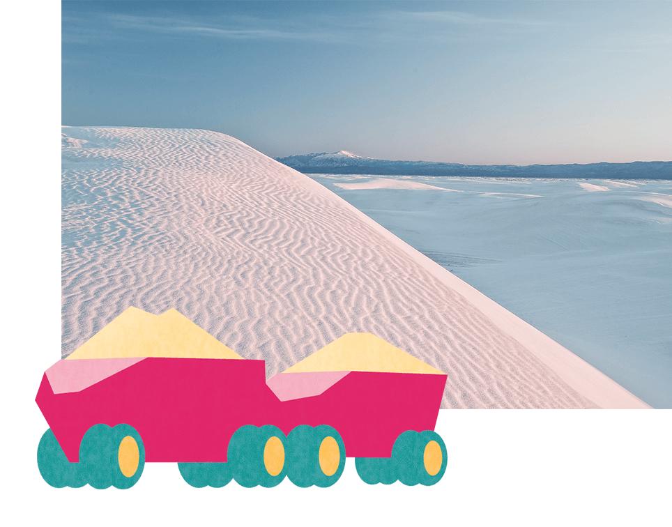 Salzgewinnungsanlage in Mexiko